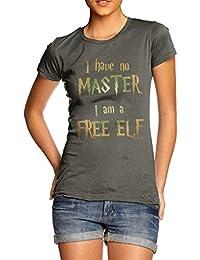 TWISTED ENVY Women's I Have No Master, I Am A Free Elf T-Shirt