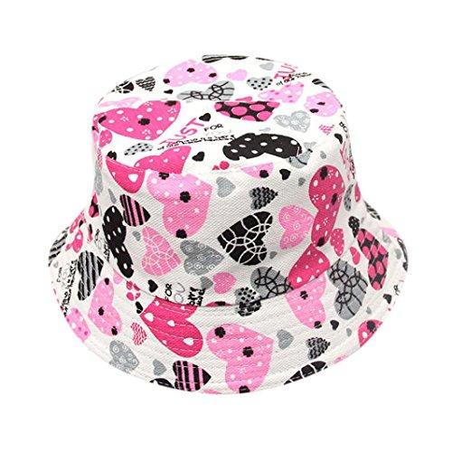Kleinkind-mädchen Modische (Fuibo Baby Sonnenhut, Kleinkind Baby Kinderjungen Mädchen Blumenmuster Eimer Hüte Sun Helmet Cap| Kinder Kappe Fischerhut Schirmmütze Strohhut (Schwarz))