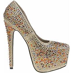 Via Giulia - Damen Party High Heels-Gold-39