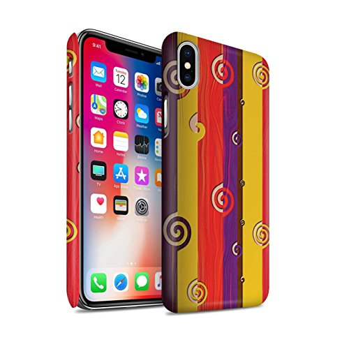 STUFF4 Matte Snap-On Hülle / Case für Apple iPhone 7 Plus / Flüssigkeit Wirbelt Muster / Modern Lebendig Kollektion Retro Erdtöne