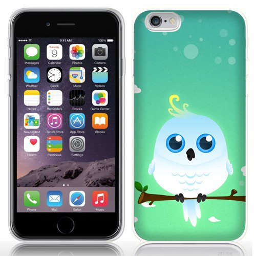 Case Fun Case Fun White Cockatoo by DevilleART TPU Rubber Back Case Cover for Apple iPhone 6 (4.7 inch) -