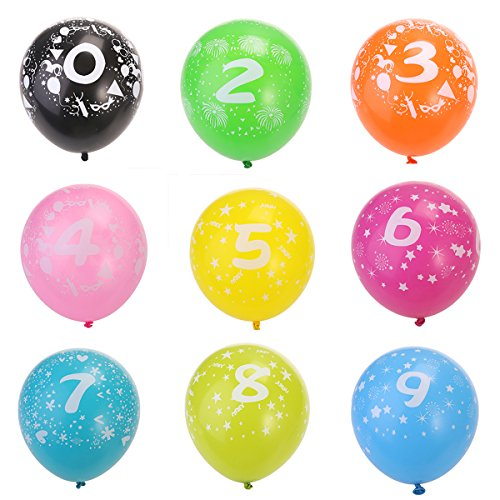 10pcs No.0-No.9 Latex Balloons for Party Wedding Decoration 3.2g Balloons Toy for Kids Having Fun