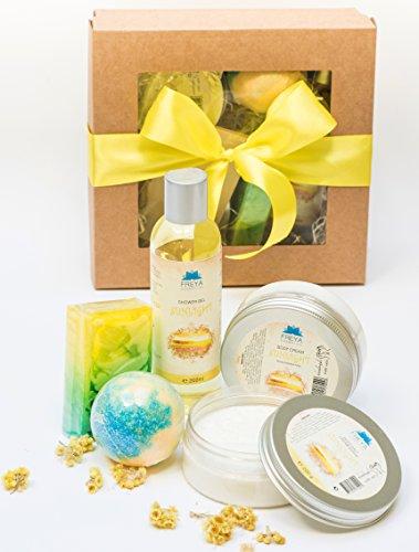 handgefertigt-naturlich-sonnenlicht-geschenkset-5-tlg-creme-salz-peeling-duschgel-seife-badebombe-ha