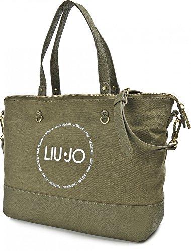 LIU JO, Damen Handtaschen, Shopper, Schultertaschen, Umhängetaschen, 42 x 30 x 17 cm (B x H x T) Khaki
