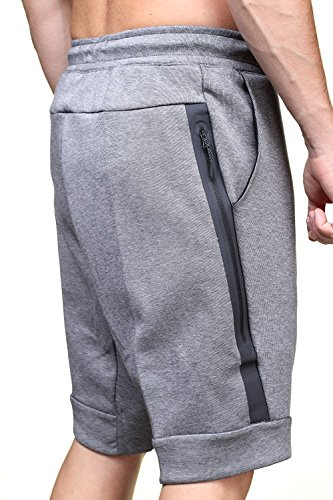 Nike Nsw Tch Flc M Pantalon court homme Gris (Carbon Heather / Cool Grey / Black)