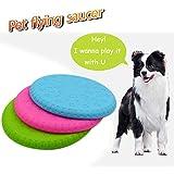 Pour Animal domestique Chien Frisbee, Dressage de chien Toy-cyber en caoutchouc Flying Saucer-dog Frisbee Jouets interactifs, convient pour tous les chiens de compagnie, par Tie Langxian