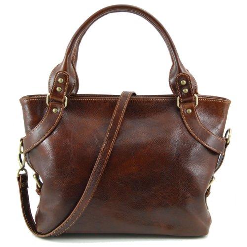 Tuscany Leather Ilenia - Sac à épaule Marron foncé Sacs à bandoulière en cuir Marron