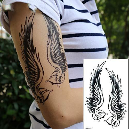 Black tattoo flash impermeabile spalla sexy delle donne di ali tatuaggi temporanei adesivi per l'uomo in body painting per adulto uomini donne bambini