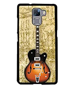 PrintVisa Acoustic Guitar High Gloss Designer Back Case Cover for Huawei Honor 7 :: Huawei Honor 7 (Enhanced Edition) :: Huawei Honor 7 Dual SIM