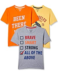 Sunday Sale : Flat 50% And More OFF On Cherokee Boys' Plain Combo T-Shirt (Pack of 3) low price image 5