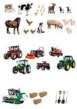 30 support ferme de décorations en Papier comestible pour tracteurs, pommes, les équipements de & animaux 4 décorations de gâteau