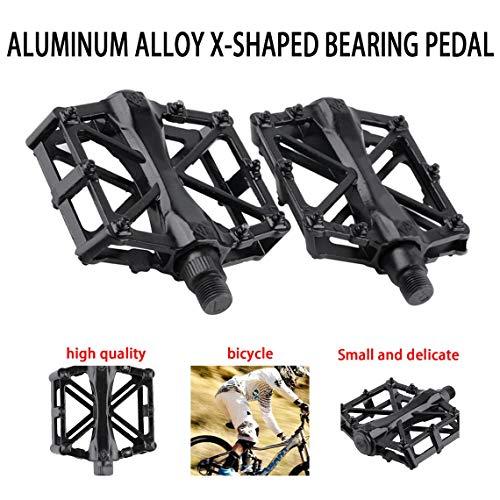 Zinniaya Coppia Pedali Ultraleggero in Lega di Alluminio Pedali Mountain Bike Pedali MTB Ciclismo Equitazione Lega Pedali Wellgo Pedale Nero