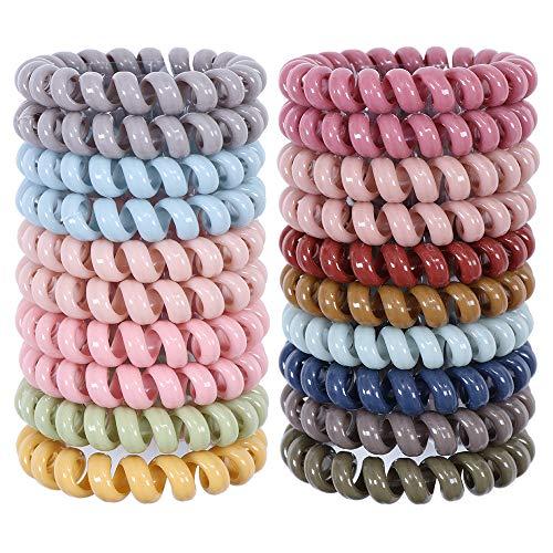 20 pezzi di fasce per capelli a molla senza piega spirale spirale legami per capelli elastici colorati anelli per capelli supporto coda di cavallo per donne ragazze