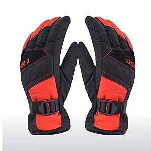 Unbekannt XIAOYAN Handschuhe Winterhandschuhe Herrn Damen Vollfinger warm halten Wasserdicht Windundurchlässig Skifahren Schützend Nylonfaser Skifahren Winter Bequem