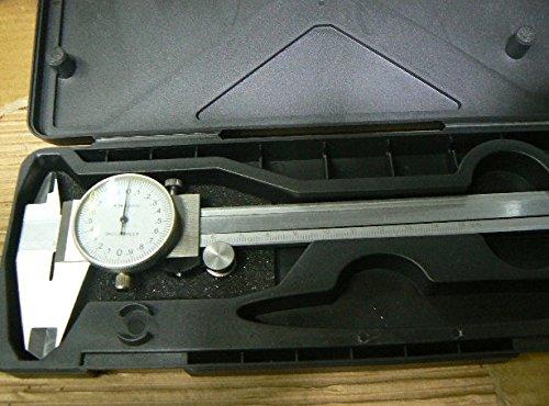 prodigital Calibro a corsoio in acciaio MANUALE PROFESSIONALE ANALOGICO 0-150mm con custodia: LA PRECISIONE DEL DIGITALE MA ANALOGICO