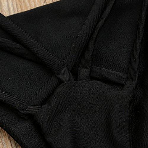 Tpulling Femme bikini set push-up rembourré maillots [ maillot de bain femme 2 pieces ] Black