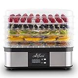Alfieri Appliances Scirocco Dörrautomat mit Temperatur Regler Dörrgerät Obsttrockner Obst-Dörrapparat Umluft 245 Watt