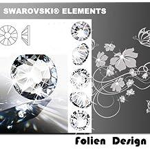 pared tatuaje etiqueta de la pared elementos adhesivos tatuaje de pared tatuaje adhesivos Swarovski elementos cristal piedras de cristal de diamante de imitación de cristales de cristal (30 pcs ca. 2,8 mm diámetro )
