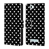 Head Case Designs Hearts Black And White Patterns Leather