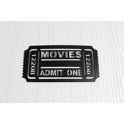 Entrada de cine 12208 Metal Arte de la pared decoración de cine en casa