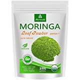 Moringa 250g del foglio polvere, Oleifera Premium Plus cibo prima certificata (1x250g)