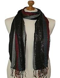 Multi colour combination striped scarf 837-MU (Multi Coloured)
