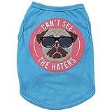 Kingnew Chihuahua Haustier Hund Welpen Katze Sommer T-Shirt Kostüm Weste Kleidung Bekleidung, Herr Hund-M