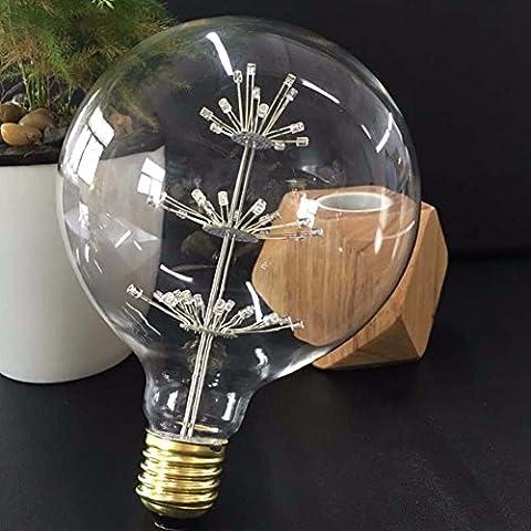 EDISON Leuchtmittel, xinrong Globe E27220V 3W Warm Weiß LED Leuchtmittel Weihnachten Urlaub Party Dekorationen für Zuhause, glas, warmweiß, (Warm Weiß Led Weihnachten Tree)