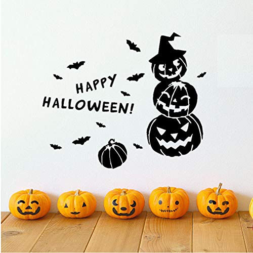 Asade Happy Halloween Witch Bats Wall Sticker Window Home Decoration Glass Window Christmas Wall Sticker Home Room Decoration