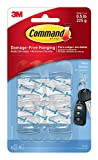 Command Mini Hooks and Strips - Clear