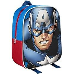 Marvel 210000159831cm Capitán América 3d Character Junior mochila