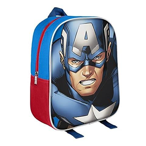 Marvel-2100001598-31-cm-Capitn-Amrica-3d-Character-Junior-mochila