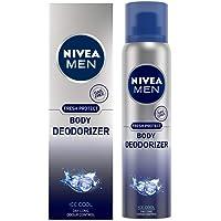 NIVEA Men Gas Free Deodorant, Ice Cool, Daylong Odour Control, 120 ml