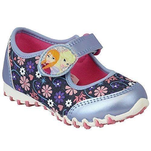 Mädchen Turnschuhe Die Eiskönigin Kinder Schuhe Anna Elsa Klettverschluss Disney Cartoon Bilder Blau/Pink - FROZENFLO