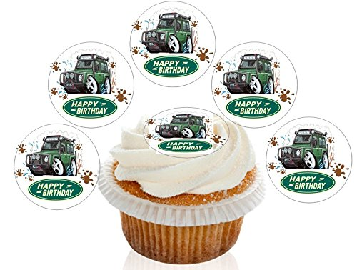 12-large-pre-cut-edible-happy-birthday-land-rover-wafer-cupcake-decorations-toppers-by-kreative-cake