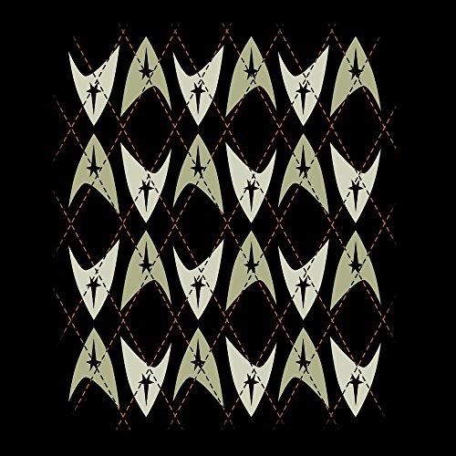 Star Trek Knit Pattern Men's Vest Black