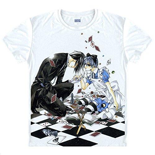 Black Butler T-Shirt Kostüm Cosplay (Butler Kostüme)