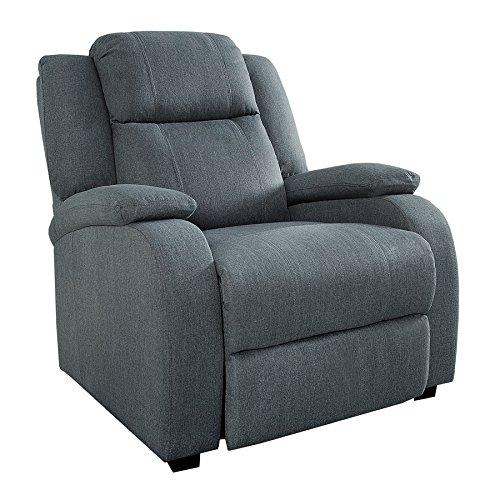 Invicta Interior Relaxsessel Hollywood Grau Stoff Verstellbar Liegesessel Sessel Fernsehsessel...