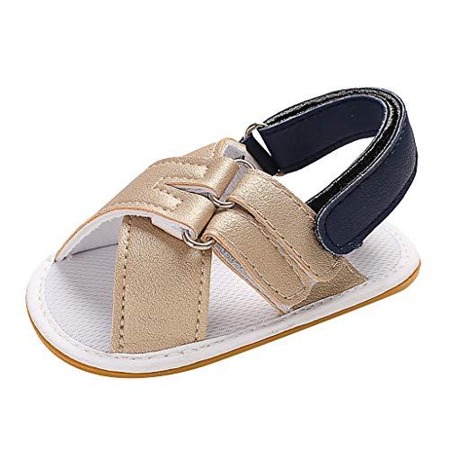 68da76e7fd756 Baby Boys Girl Soft Sole Sandals Toddler Anti-Slip Summer Crib First  Walking Shoes Cute Soft Sole Sling Back Sandals Shoes by LILICAT Gold