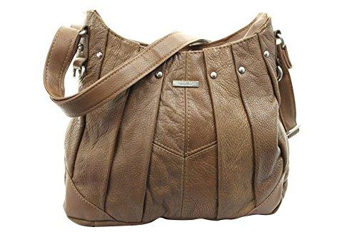 Lorenz On Trend Damen Leder Handtasche Bag Latest Style Bräune