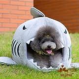 Nido cesta cojín cama caseta Transporter casa en forma tiburón para arena de perro gato animales