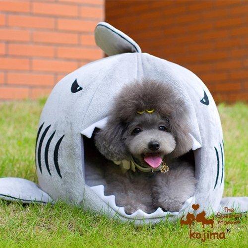 Nido cesta cojín cama caseta Transporter casa en forma tiburón para arena...