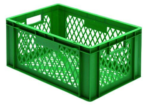 agerbehälter, Wände+Boden durchbrochen, grün, 600x400x270 mm (LxBxH), 1 Pack=2 Stück ()