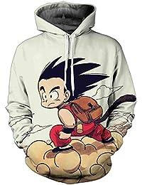 FLYCHEN Sudadera con Capucha para Hombre con 3D Digital Impreso Dragon Ball  Goku Super Saiyan Azul 719cfb6a110