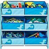Dinosaurier - Regal zur Spielzeugaufbewahrung mit sechs Kisten für Kinder