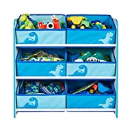 Hello Home 471DIE - Unidad de almacenamiento para niños con diseño dinosaurio, color blanco y azul