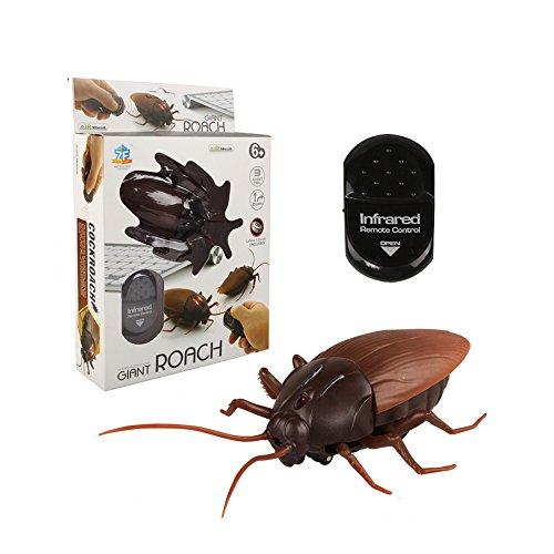 ionlyou 10cm Große Küchenschabe Kakerlake ferngesteuert Gekrieche Simulation Scherzartikel Party feiern Schreck Spielzeug Geschenk für Kinder und Haustier
