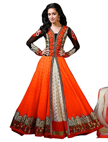 1-Stop-Fashion-Orange-Semi-Stitched-Georgette-Net-Anarkali-Salwar-Suit-Dress-Material