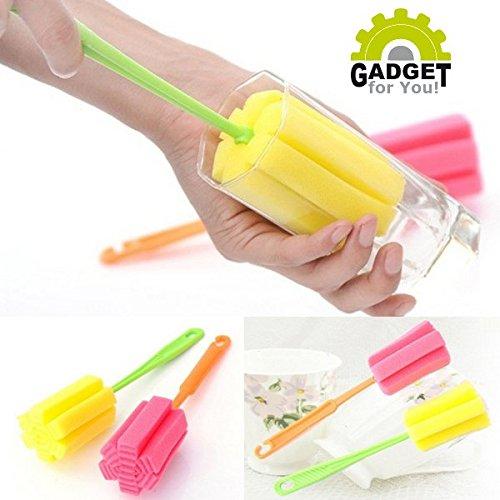 Spülschwamm mit Stiel - für Flaschen, Gläser, Tassen, Babyflaschen etc. perfekt geeignet