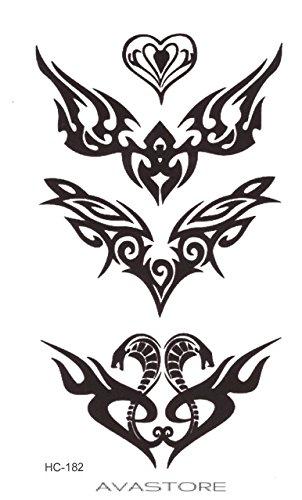 Temporäre Tätowierungen Schlange Tribal-Tattoo flüchtig Schlange tribal- MTB, 3Tribal schwarz-avastore -